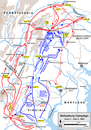 The Route to Gettysburg